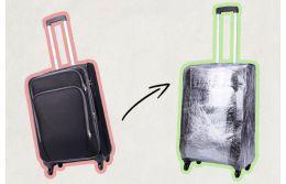 Пленка для защиты чемодана: стоит ли?