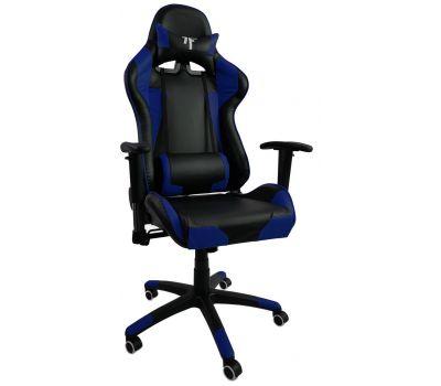 Кресло геймерское 7F Gamer Blue черно-синее