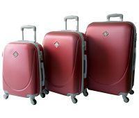 Набор чемоданов Bonro Smile 3 штуки бордовый