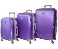 Набор чемоданов Bonro Smile 3 штуки фиолетовый