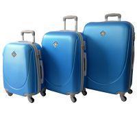 Набір валіз Bonro Smile 3 штуки блакитний