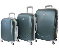 Набір валіз Bonro Smile 3 штуки смарагдовий