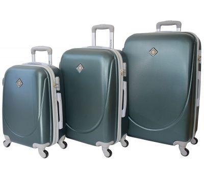Набор чемоданов Bonro Smile 3 штуки изумрудный
