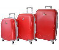 Набор чемоданов Bonro Smile 3 штуки красный