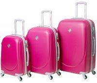 Набор чемоданов Bonro Smile 3 штуки малиновый
