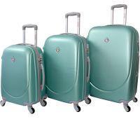 Набор чемоданов Bonro Smile 3 штуки мятный