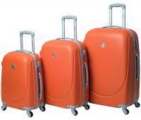 Набор чемоданов Bonro Smile 3 штуки оранжевый