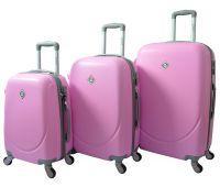 Набор чемоданов Bonro Smile 3 штуки розовый