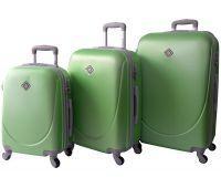 Набор чемоданов Bonro Smile 3 штуки салатовый