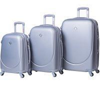 Набор чемоданов Bonro Smile 3 штуки серебряный
