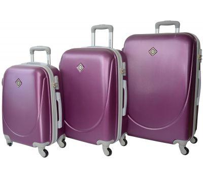 Набор чемоданов Bonro Smile 3 штуки сиреневый