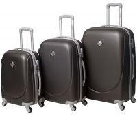 Набор чемоданов Bonro Smile 3 штуки темно-серый