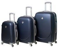 Набор чемоданов Bonro Smile 3 штуки темно-синий
