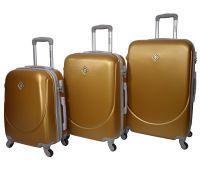 Набор чемоданов Bonro Smile 3 штуки золотой