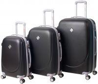 Набор чемоданов Bonro Smile 3 штуки с двойными колесами черный