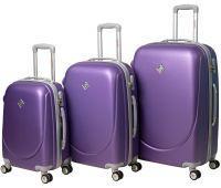 Набор чемоданов Bonro Smile 3 штуки с двойными колесами фиолетовый