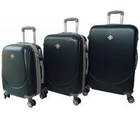 Набір валіз Bonro Smile 3 штуки з подвійними колесами смарагдовий