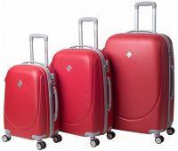 Набор чемоданов Bonro Smile 3 штуки с двойными колесами красный
