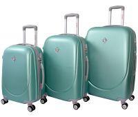 Набор чемоданов Bonro Smile 3 штуки с двойными колесами мятный