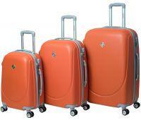 Набор чемоданов Bonro Smile 3 штуки с двойными колесами оранжевый