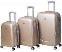 Набор чемоданов Bonro Smile 3 штуки с двойными колесами шампань