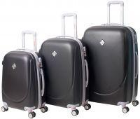 Набор чемоданов Bonro Smile 3 штуки с двойными колесами темно-серый