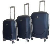 Набор чемоданов Bonro Smile 3 штуки с двойными колесами темно-синий