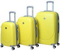 Набор чемоданов Bonro Smile 3 штуки с двойными колесами желтый