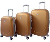 Набір валіз Bonro Smile 3 штуки з подвійними колесами золотий