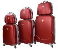 Набор чемоданов и кейсов Bonro Smile 6 штук бордовый