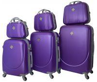 Набор чемоданов и кейсов Bonro Smile 6 штук фиолетовый