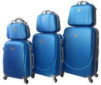 Набор чемоданов и кейсов Bonro Smile 6 штук голубой