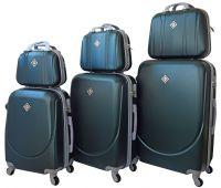 Набор чемоданов и кейсов Bonro Smile 6 штук изумрудный
