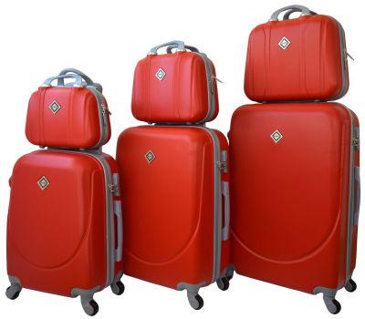 Набор чемоданов и кейсов Bonro Smile 6 штук красный