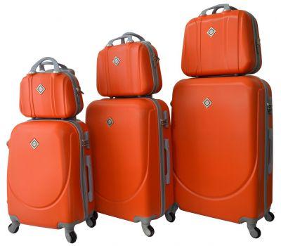 Набор чемоданов и кейсов Bonro Smile 6 штук оранжевый