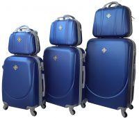 Набор чемоданов и кейсов Bonro Smile 6 штук синий