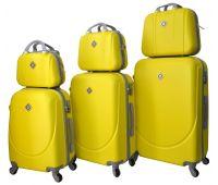 Набор чемоданов и кейсов Bonro Smile 6 штук желтый