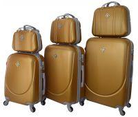 Набор чемоданов и кейсов Bonro Smile 6 штук золотой