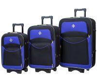 Набор чемоданов Bonro Style 3 штуки черно-фиолетовый