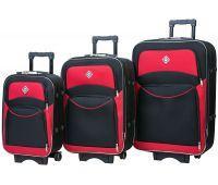 Набор чемоданов Bonro Style 3 штуки черно-красный