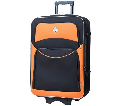 Чемодан Bonro Style средний черно-оранжевый