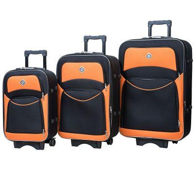 Набор чемоданов Bonro Style 3 штуки черно-оранжевый