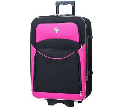 Чемодан Bonro Style средний черно-розовый