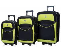Набор чемоданов Bonro Style 3 штуки черно-салатовый