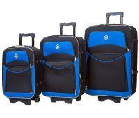 Набор чемоданов Bonro Style 3 штуки черно-синий