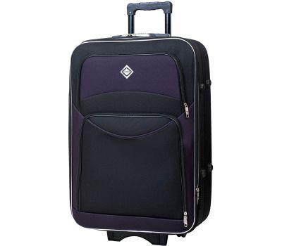 Чемодан Bonro Style средний черно-т.фиолетовый