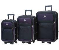Набор чемоданов Bonro Style 3 штуки черно-т.фиолетовый