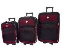 Набор чемоданов Bonro Style 3 штуки черно-вишневый
