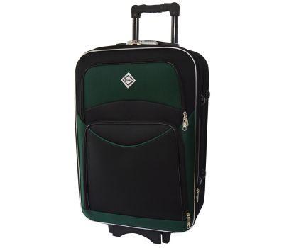 Чемодан Bonro Style средний черно-зеленый