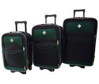 Набор чемоданов Bonro Style 3 штуки черно-зеленый